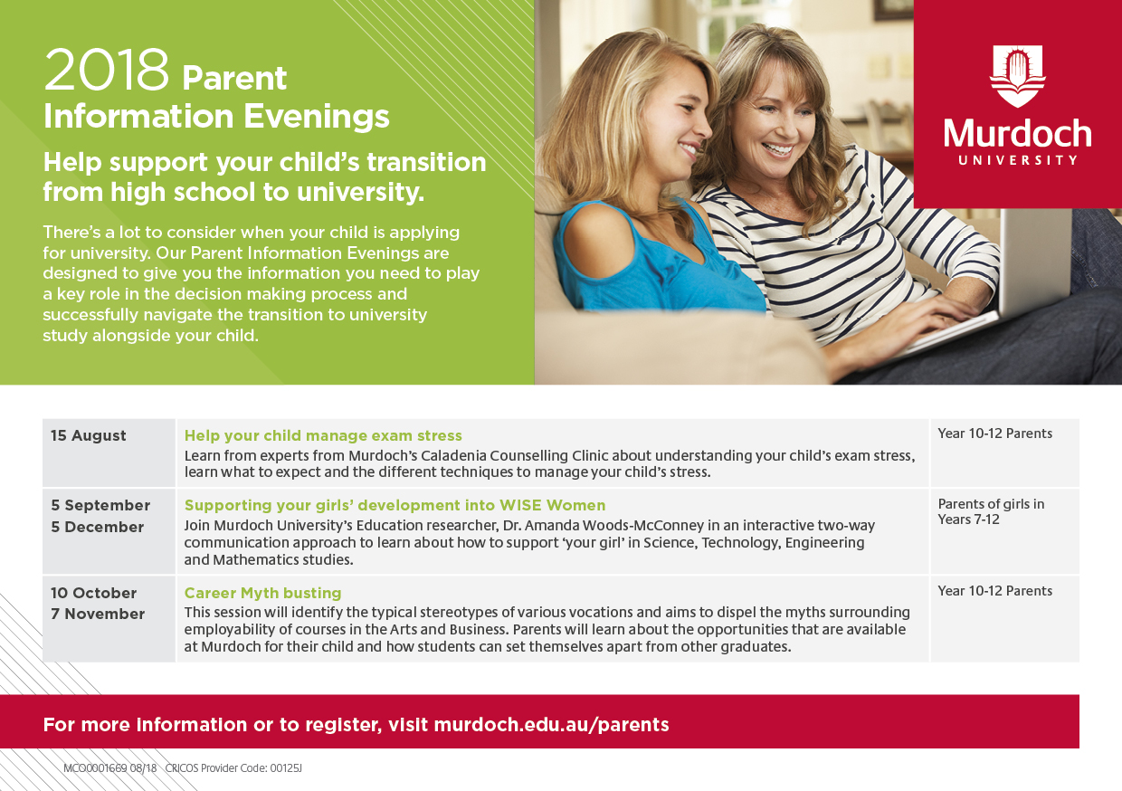 Parent Information Evenings A5 flyer
